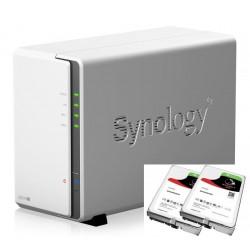 NAS Synology DS218j 2x4TB server, Gb LAN, RAID 0/1