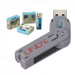 USB Lock (USB klíč + 4 uzamykatelné záslepky portů)