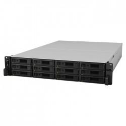 NAS Synology RS3621xs+ 12xSATA Rack server, 2x10Gb+4x1Gb LAN, red.zdroj