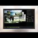 """Fotoobraz FrameXX Home 150 (WiFi/LAN, 15"""", USB, SD/MMC), černý, stříbrný rám"""