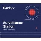 NAS Synology 4 další licence pro IP kameru